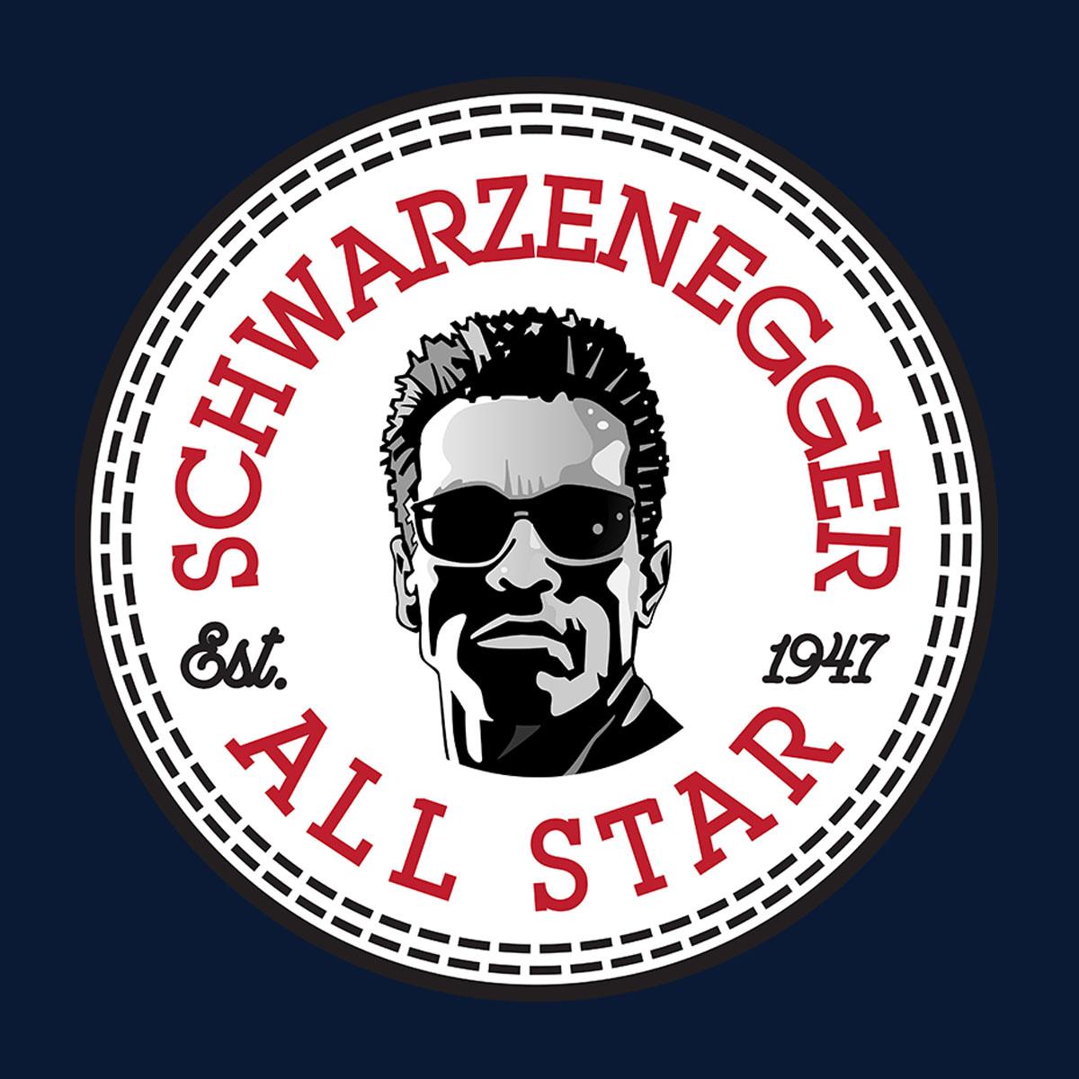 Arnold-Schwarzenegger-All-Star-Converse-Logo-Herren-T-Shirt Indexbild 2