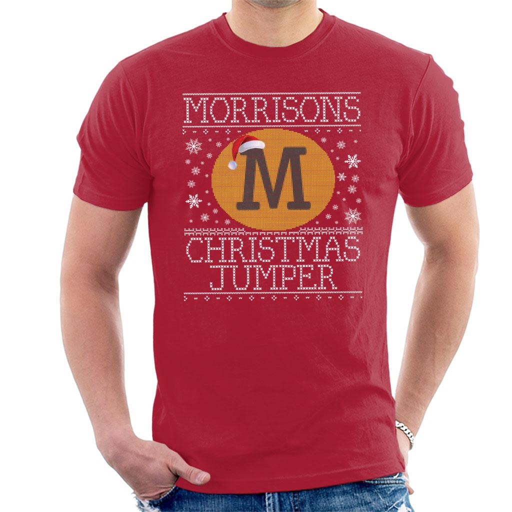 Morrisons christmas jumper knit pattern mens t shirt ebay morrisons christmas jumper knit pattern men 039 s t bankloansurffo Image collections
