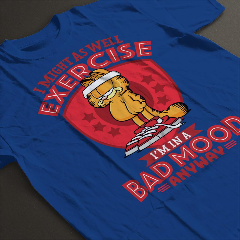 Garfield Bad Mood Equals Exercise Men/'s T-Shirt