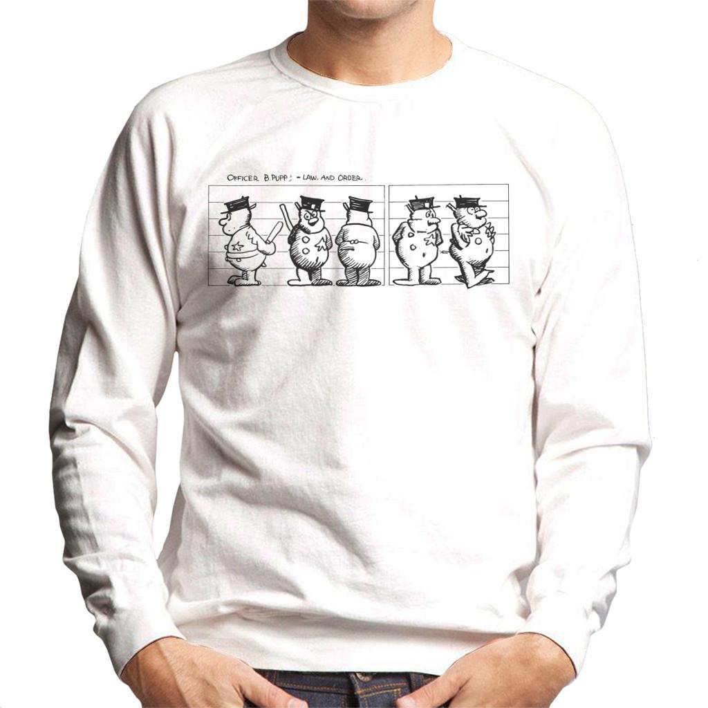 Krazy Kat Ignatz Mouse Rainbow Line Up Mens Sweatshirt