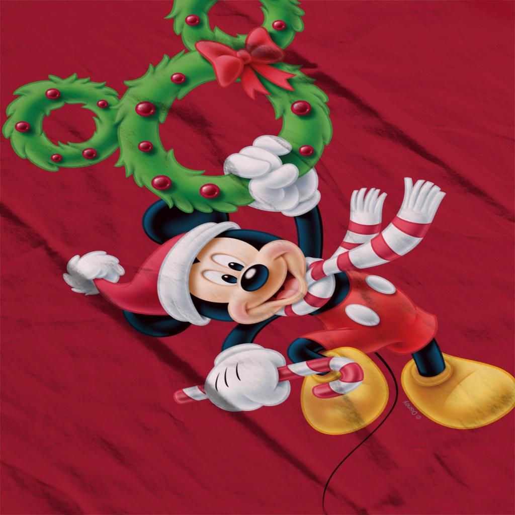 Disney-Mickey-Christmas-Mouse-Wreath-Women-039-s-T-Shirt thumbnail 10