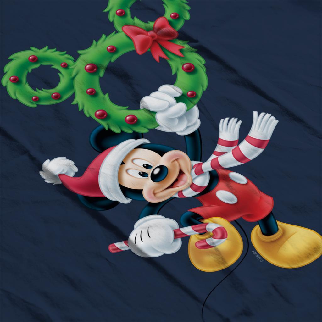 Disney-Mickey-Christmas-Mouse-Wreath-Women-039-s-T-Shirt thumbnail 15