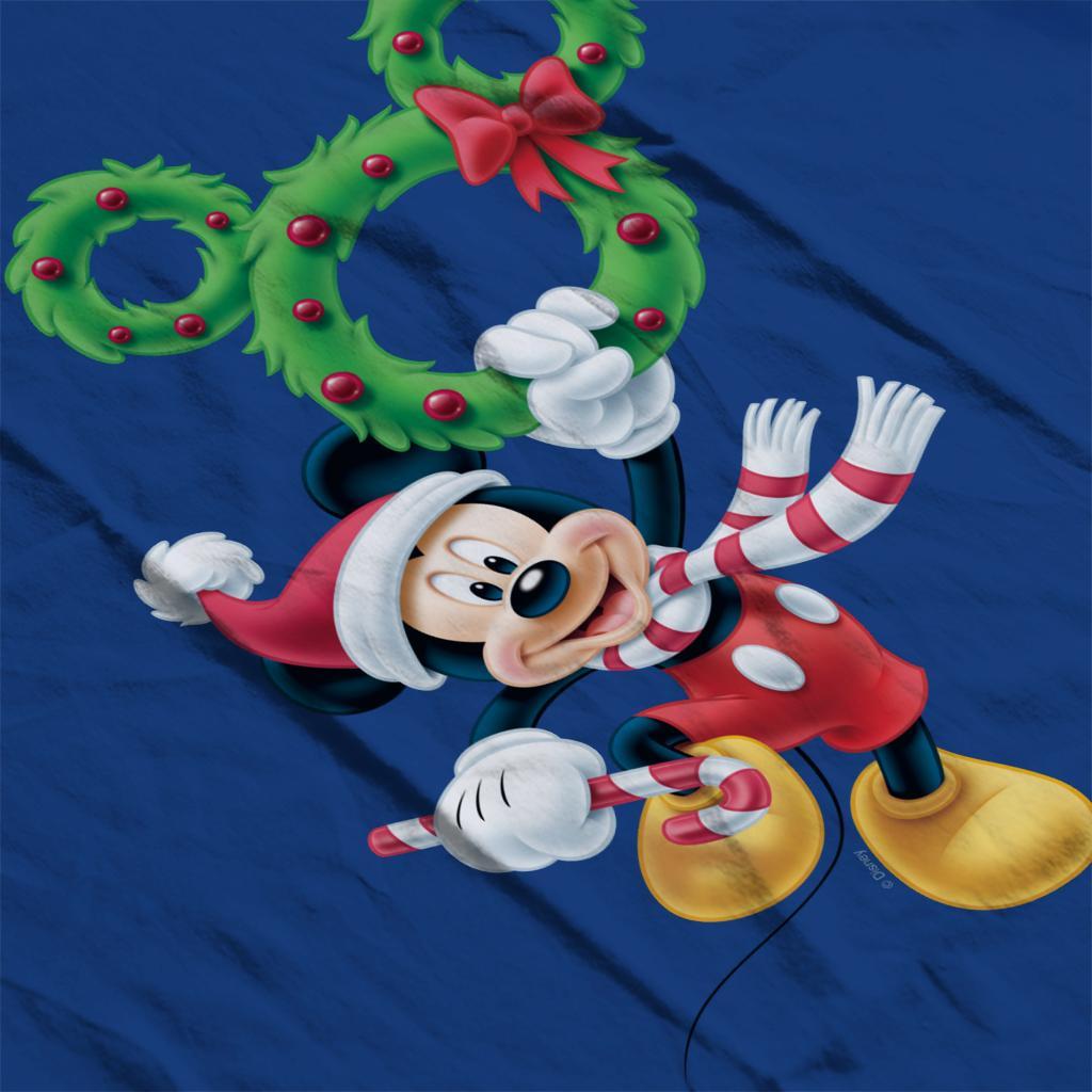 Disney-Mickey-Christmas-Mouse-Wreath-Women-039-s-T-Shirt thumbnail 20