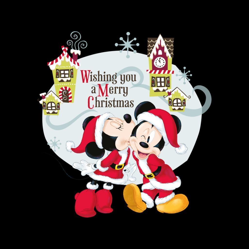 Disney-Mickey-Mouse-Village-Merry-Christmas-Women-039-s-T-Shirt thumbnail 7