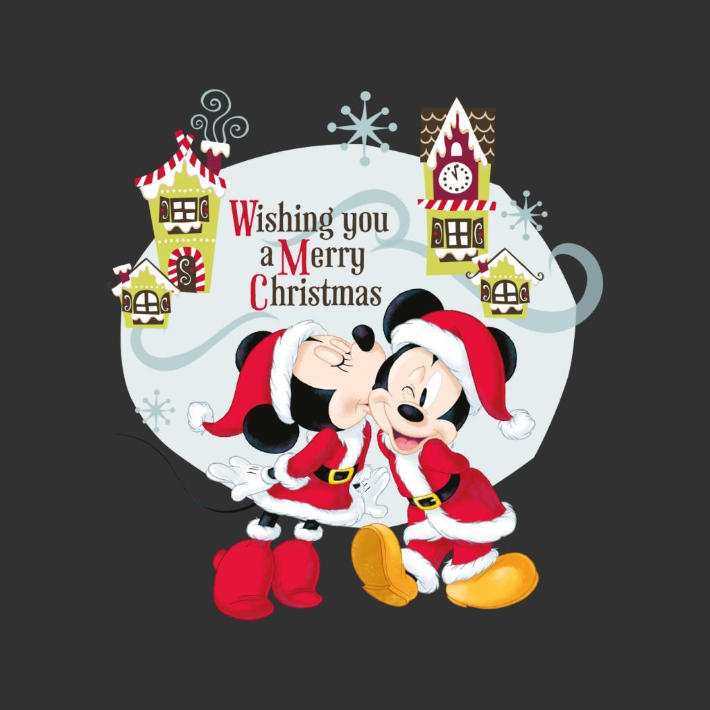 Disney-Mickey-Mouse-Village-Merry-Christmas-Women-039-s-T-Shirt thumbnail 12
