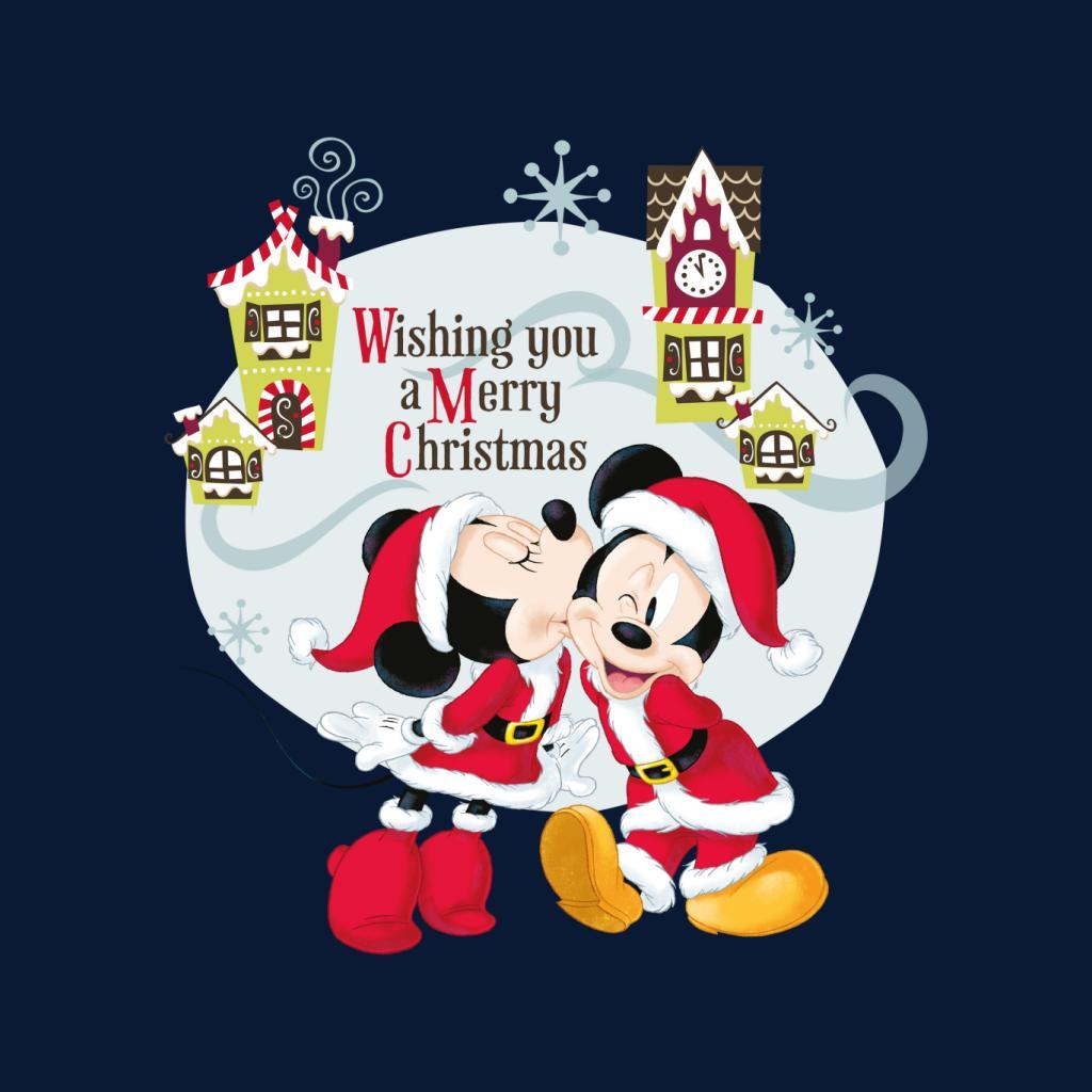 Disney-Mickey-Mouse-Village-Merry-Christmas-Women-039-s-T-Shirt thumbnail 17