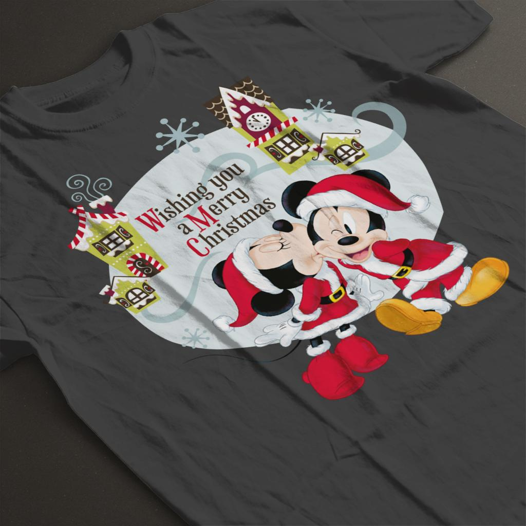 Disney-Mickey-Mouse-Village-Merry-Christmas-Women-039-s-T-Shirt thumbnail 14