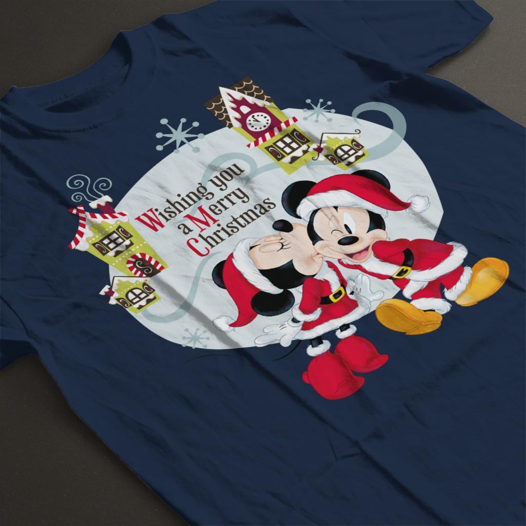 Disney-Mickey-Mouse-Village-Merry-Christmas-Women-039-s-T-Shirt thumbnail 19