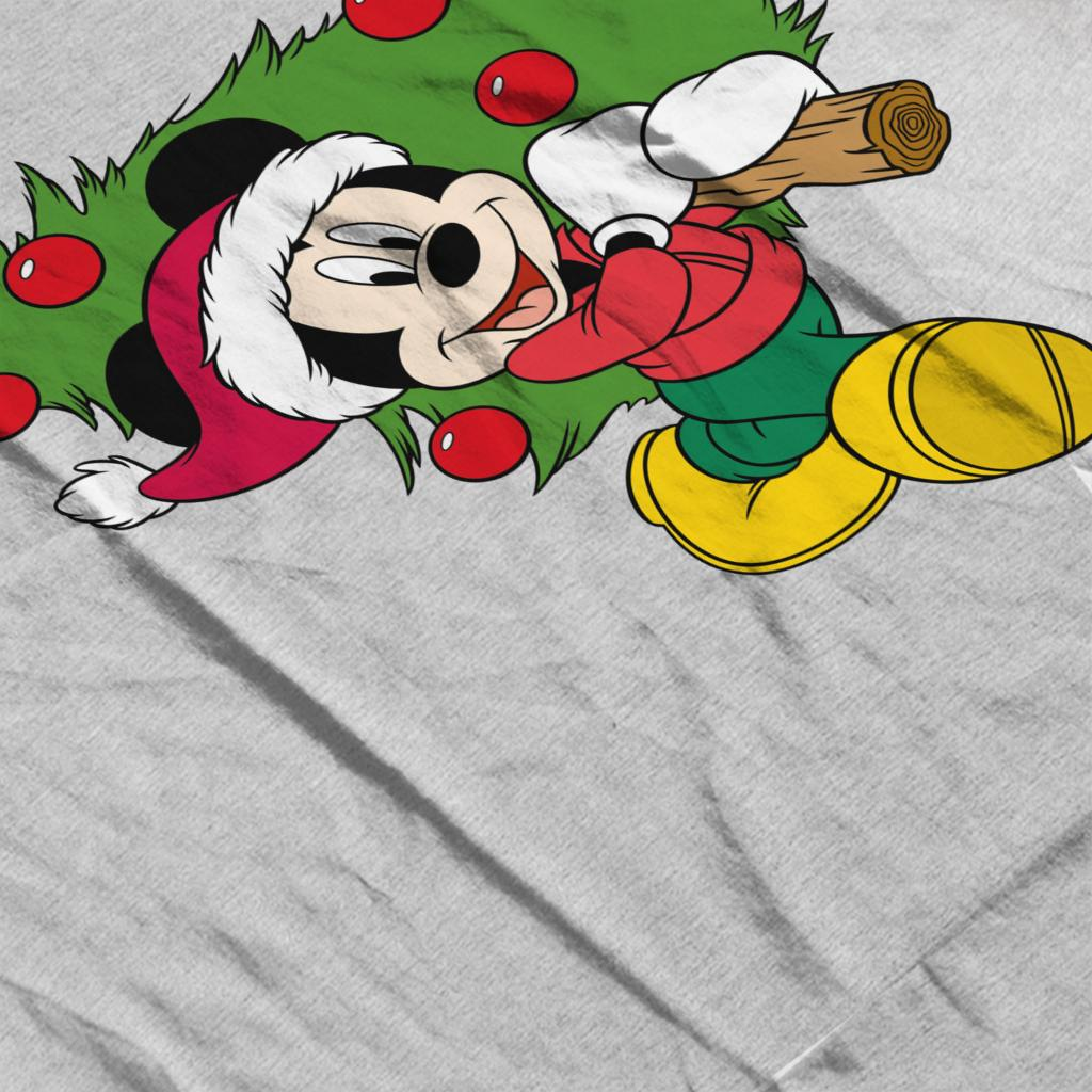 Disney-Christmas-Mickey-Mouse-Christmas-Tree-Women-039-s-T-Shirt thumbnail 10