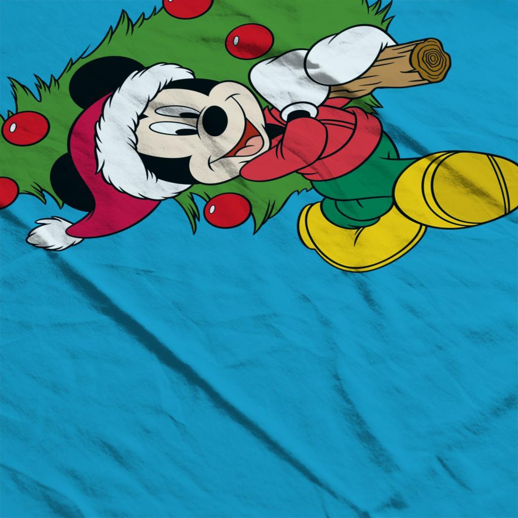 Disney-Christmas-Mickey-Mouse-Christmas-Tree-Women-039-s-T-Shirt thumbnail 15