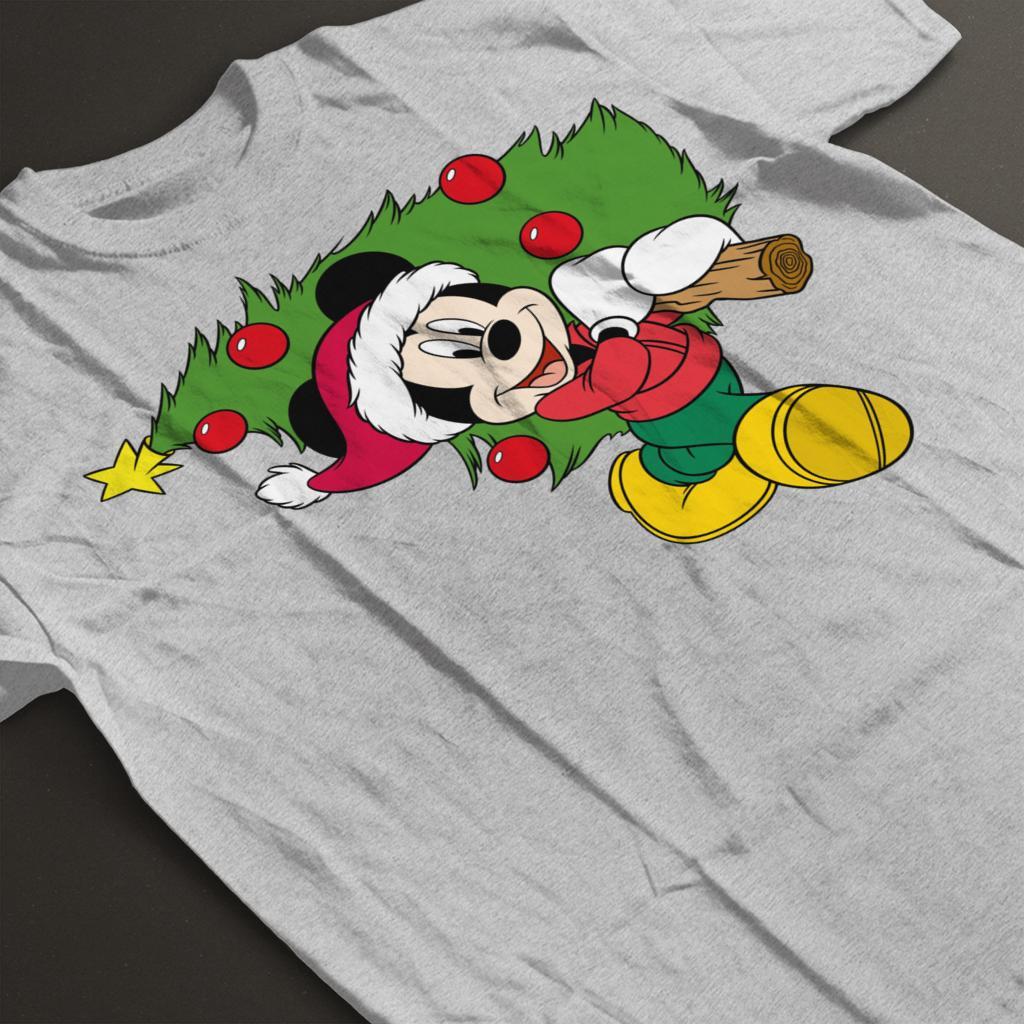 Disney-Christmas-Mickey-Mouse-Christmas-Tree-Women-039-s-T-Shirt thumbnail 9