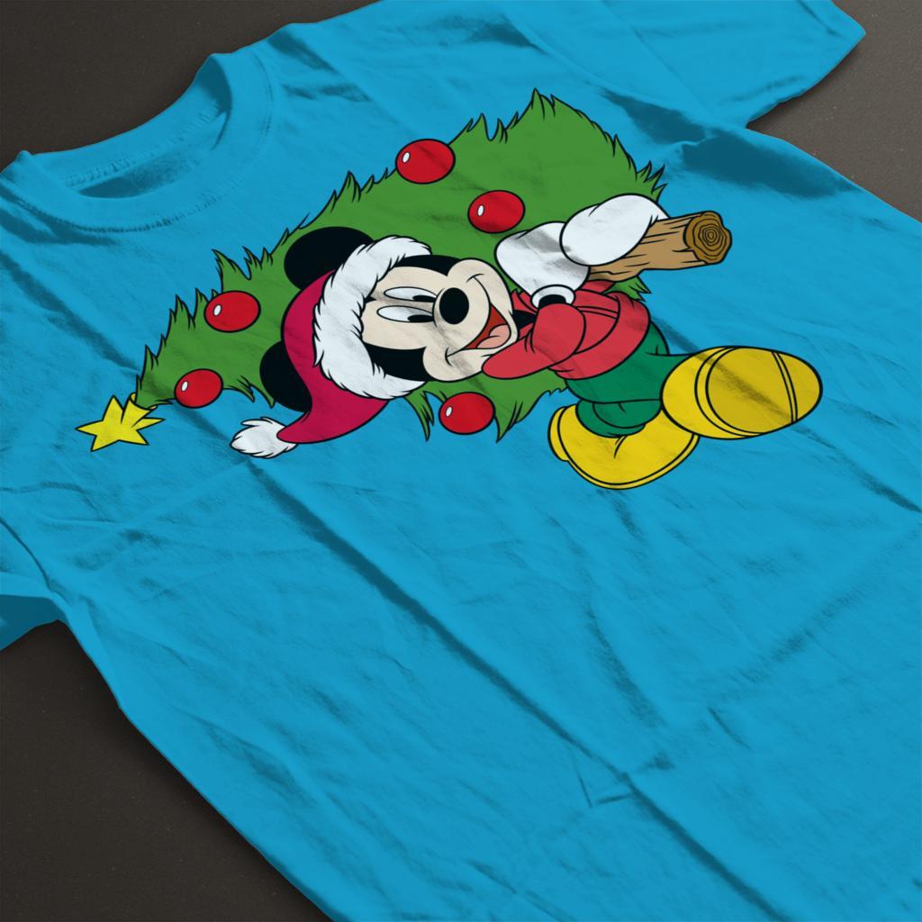 Disney-Christmas-Mickey-Mouse-Christmas-Tree-Women-039-s-T-Shirt thumbnail 14