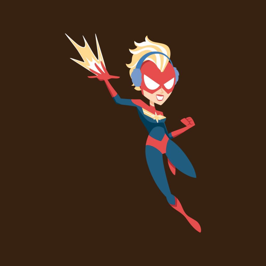 Marvel-Christmas-Captain-Marvel-Winter-Ear-Muffs-Women-039-s-T-Shirt thumbnail 17