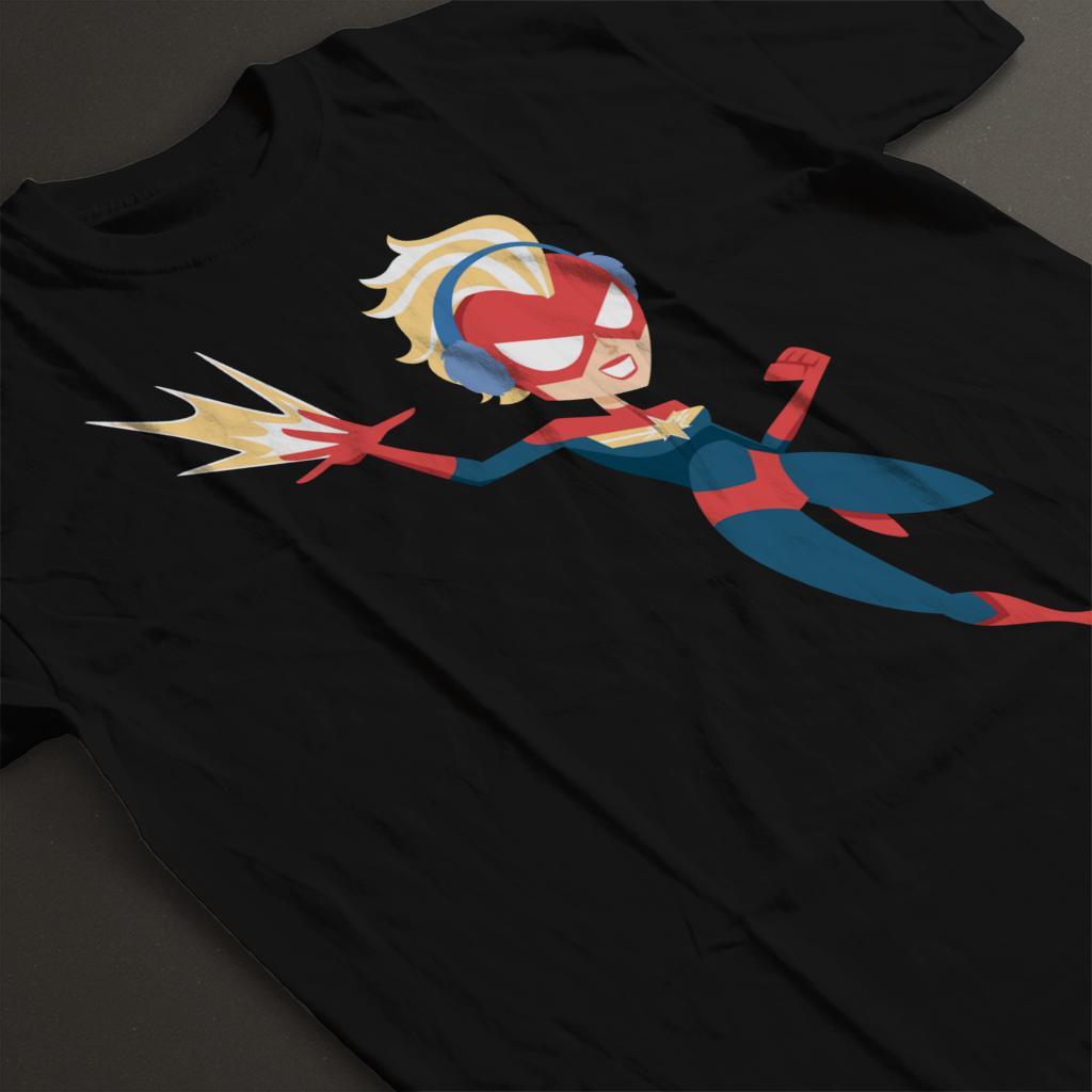 Marvel-Christmas-Captain-Marvel-Winter-Ear-Muffs-Women-039-s-T-Shirt thumbnail 9