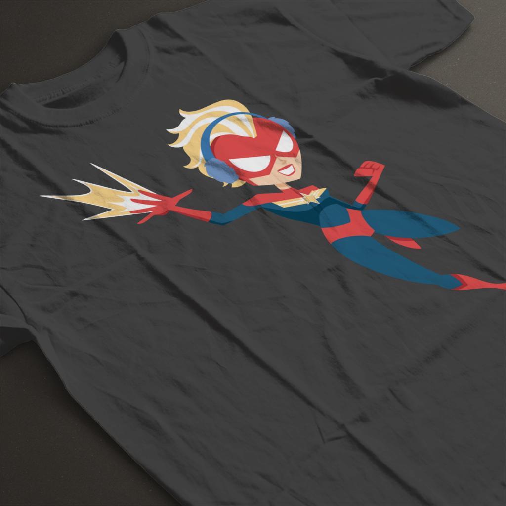 Marvel-Christmas-Captain-Marvel-Winter-Ear-Muffs-Women-039-s-T-Shirt thumbnail 14