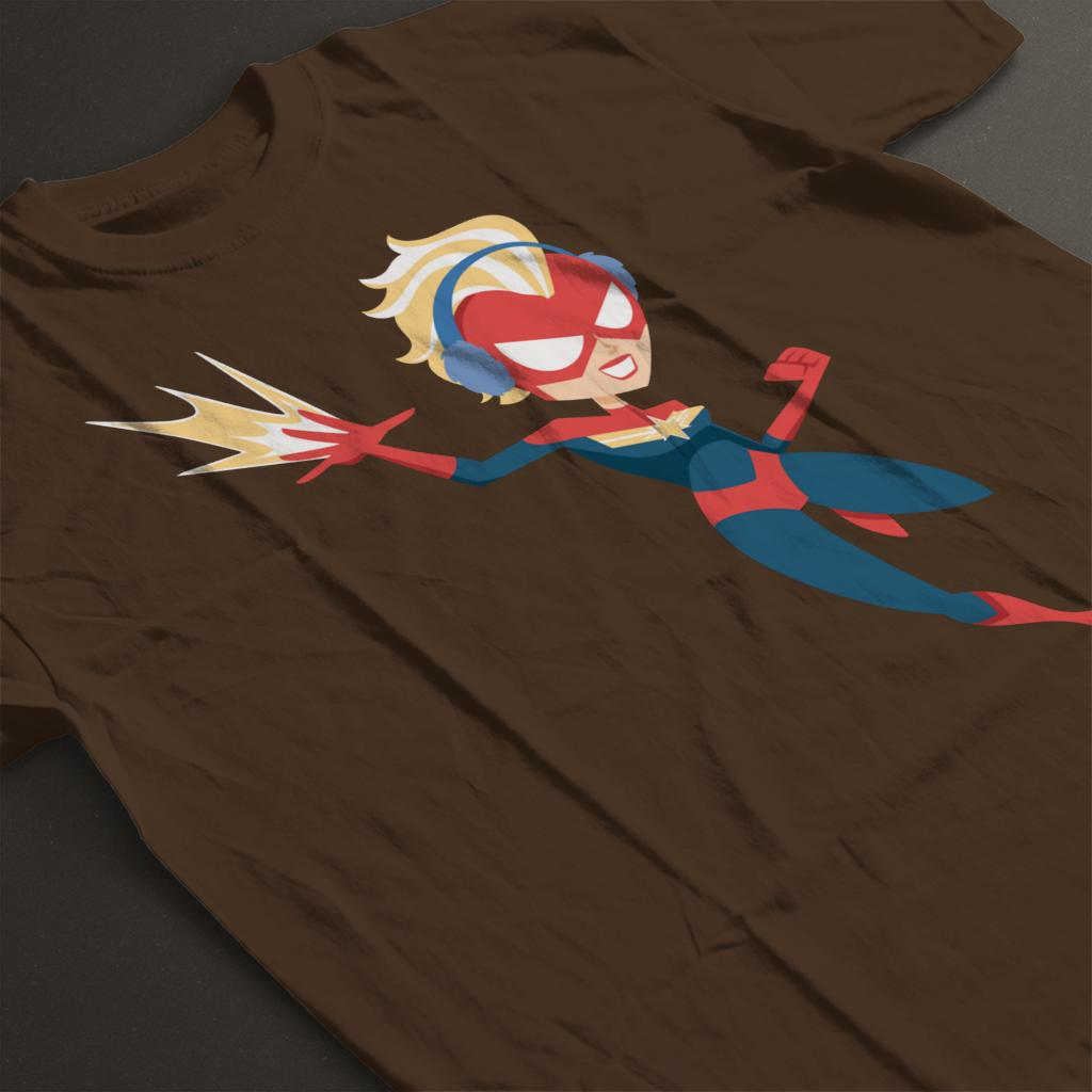 Marvel-Christmas-Captain-Marvel-Winter-Ear-Muffs-Women-039-s-T-Shirt thumbnail 19